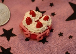 Strawberry cake with whipped cream. :)