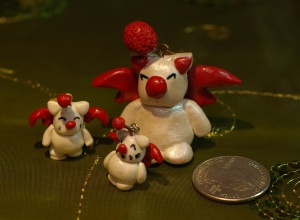 Here we have Moogles from the Final Fantasy series. My friend says they look closer to the Final Fantasy VI.