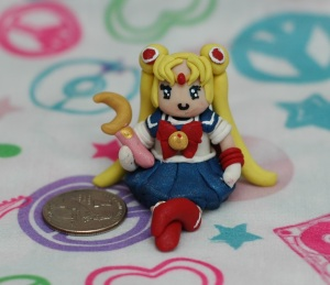 After I made the previous two, I wanted to try making Sailor Moon so so so bad, that I rushed through it and made a few mistakes, namely the collar. Personally I don't think it's that great, but my friends have said it's blog worthy so here she is!