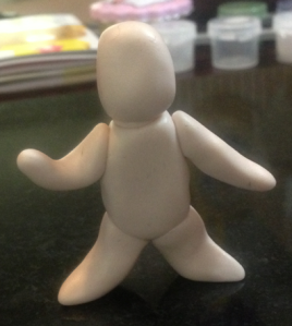 This is how he began. Look, there's even a neck hehe.  He reminds me of the Stay Puft Marshmallow Man.  :p