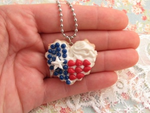 Texas Flag cookie charm hand